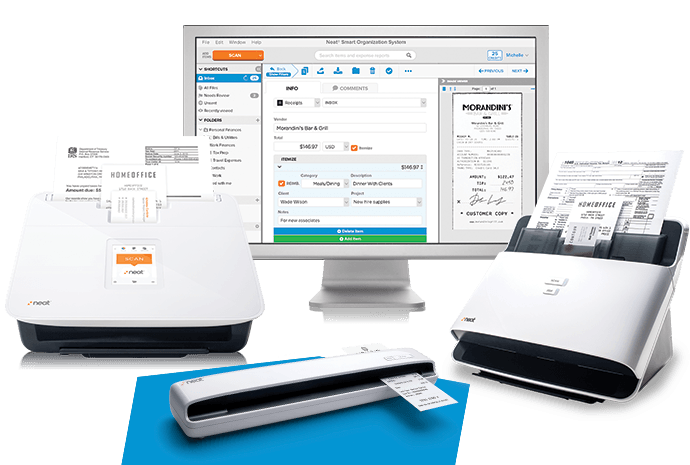 Pair a document scanner with scanning software from Neat to simplify document management