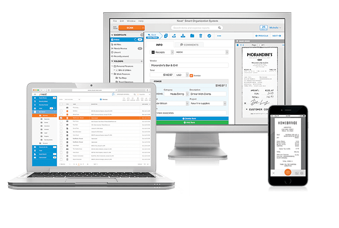 Scanning software plans from Neat are designed to be easy to use
