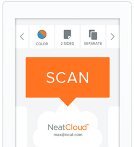 Neat Cloud - Scan directly to Neat cloud - Step 1